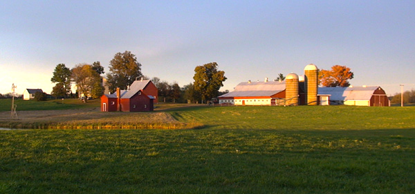 Lee Farm at Sunset