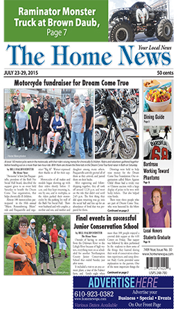 The Home News front page